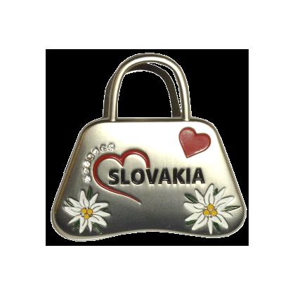 Suvenír magnetka so štipcom Slovakia kabelka