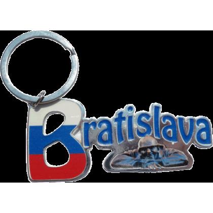 Kovová kľúčenka Bratislava