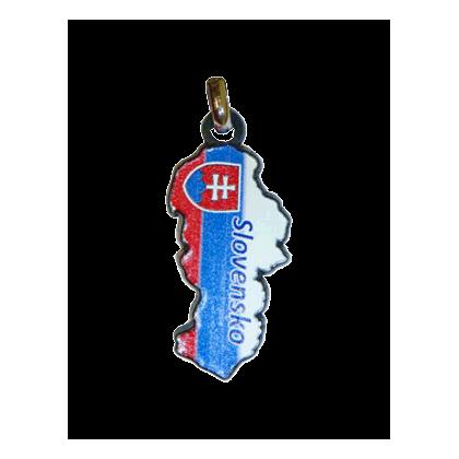 Kľúčenka Mapka SK