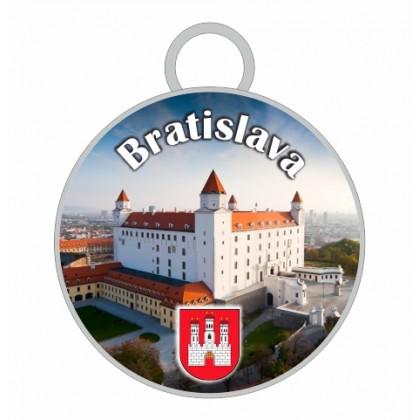 Kľúčenka kruh Bratislava 01