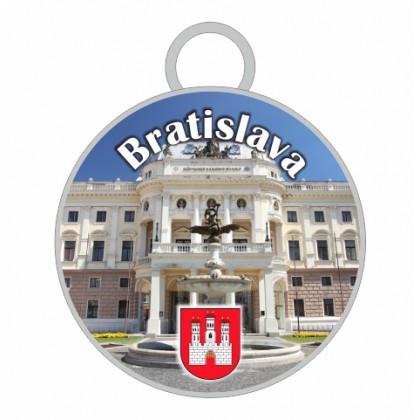 Kľúčenka kruh Bratislava 02