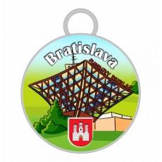 Kľúčenka kruh Bratislava 03