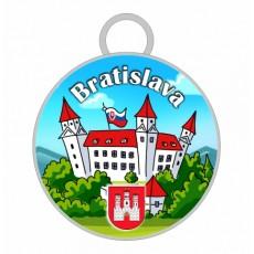 Kľúčenka kruh Bratislava 05
