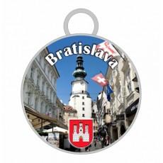 Kľúčenka kruh Bratislava 08