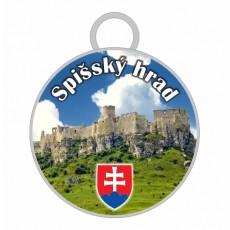 Kľúčenka kruh Spišský hrad 01