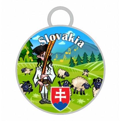 Kľúčenka kruh Slovakia 01