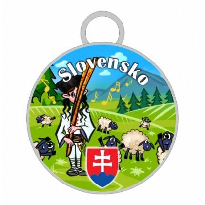 Kľúčenka kruh Slovensko 02