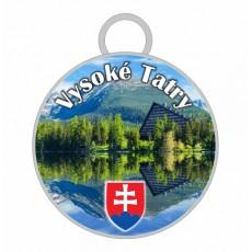 Kľúčenka kruh Vysoké Tatry 02