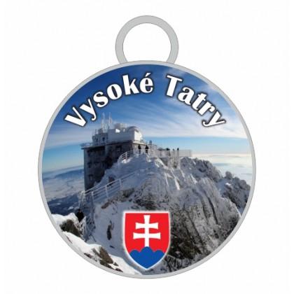 Kľúčenka kruh Vysoké Tatry 03