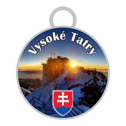 Kľúčenka kruh Vysoké Tatry 04