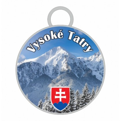 Kľúčenka kruh Vysoké Tatry 05