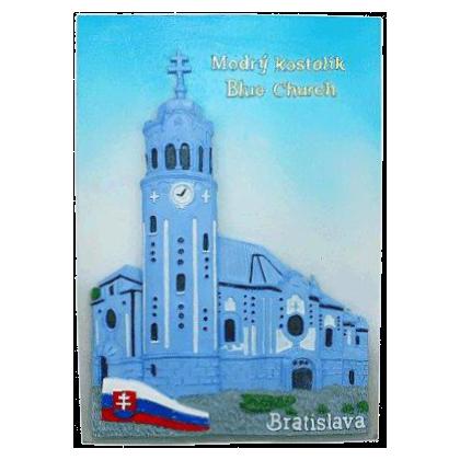 Suvenír Obraz Modrý kostolík