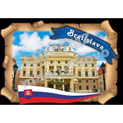 Magnetka listina Bratislava Divadlo