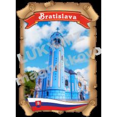 Magnetka listina Bratislava 3