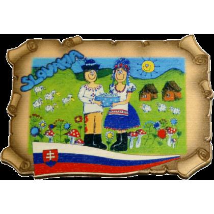 Magnetka listina Slovakia 1