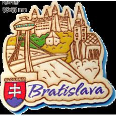 Magnetka gravírovaná Bratislava A