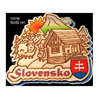 Magnetka gravírovaná Slovensko 2a