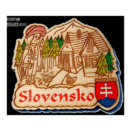 Magnetka gravírovaná Slovensko 3a