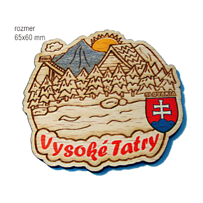 Magnetka gravírovaná Vysoké Tatry A