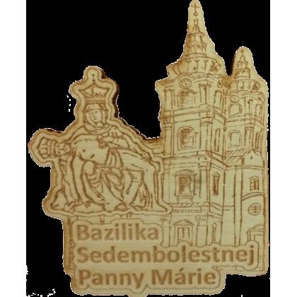 Magnetka drevená gravírovaná Bazilika Sedembolestnej Panny Márie