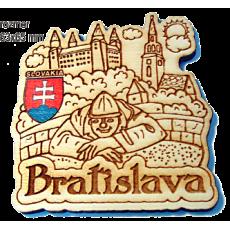 Magnetka gravírovaná Bratislava 1