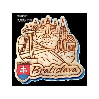 Magnetka gravírovaná Bratislava