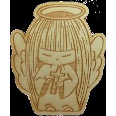 Magnetka drevená gravírovaná Anjelik