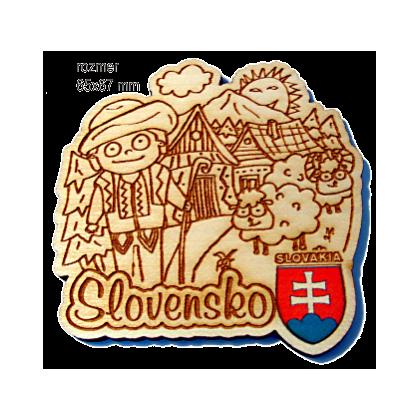 Magnetka gravírovaná Slovensko