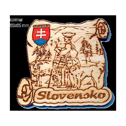 Magnetka gravírovaná Slovensko 5