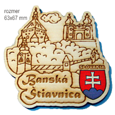 Magnetka gravírovaná Banská Štiavnica 1