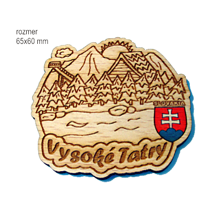 Magnetka gravírovaná Vysoké Tatry