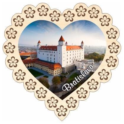 Magnetka srdiečko Bratislava 01