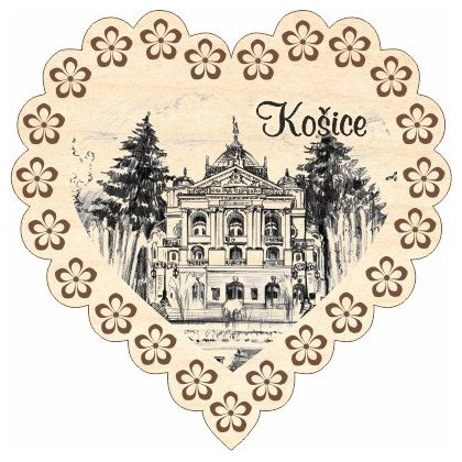 Magnetka srdiečko Košice 05