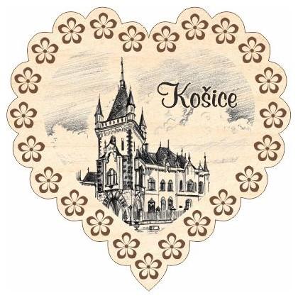 Magnetka srdiečko Košice 06