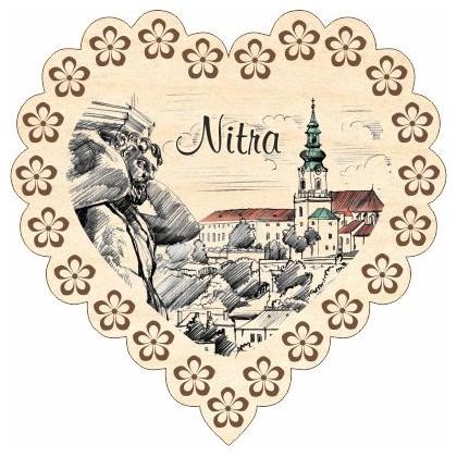 Magnetka srdiečko Nitra 03