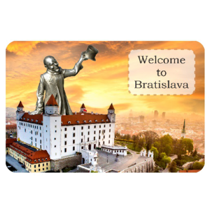 Magnetka drevená Bratislava 5