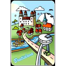 Magnetka drevená Bratislava 6