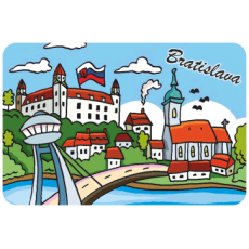 Magnetka drevená Bratislava 8