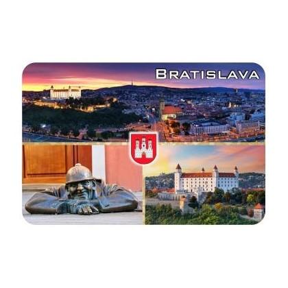 Magnetka drevená Bratislava 13