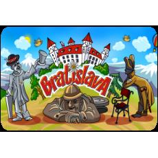 Magnetka drevená Bratislava 14