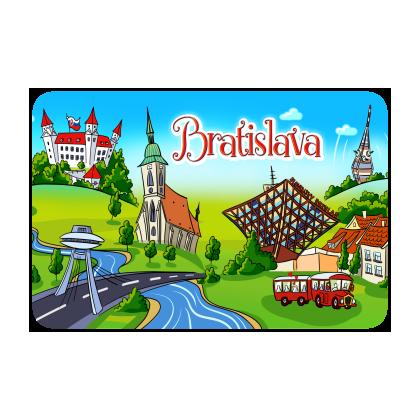 Magnetka drevená Bratislava 15