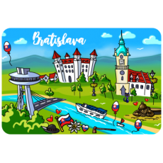 Magnetka drevená Bratislava 16