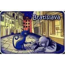 Magnetka drevená Bratislava 3