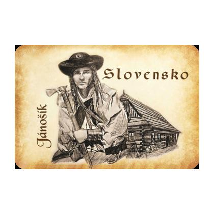 Magnetka drevená Jánošík Slovensko