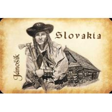 Magnetka drevená Jánošík Slovakia