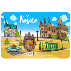 Magnetka drevená Košice 1