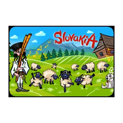 Magnetka drevená Slovakia 1