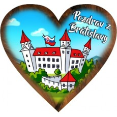 Magnetka srdiečko Bratislava 05
