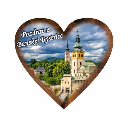 Magnetka srdiečko Banská Bystrica 01