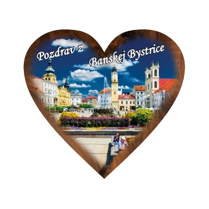 Magnetka srdiečko Banská Bystrica 02